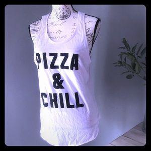 Victoria's Secret PINK pizza and chill tank